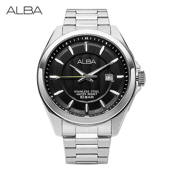 [세이코알바 ALBA] AS9987X1 / AS9987X 남성용 메탈시계 44mm 타임메카