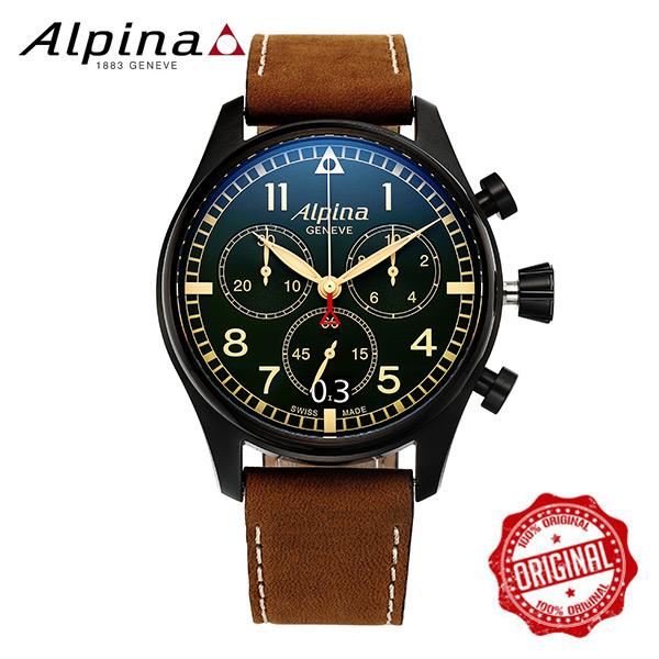 [알피나 ALPINA] AL-372GR4FBS6 Startimer Pilot Big Date Chronograph Military 44mm