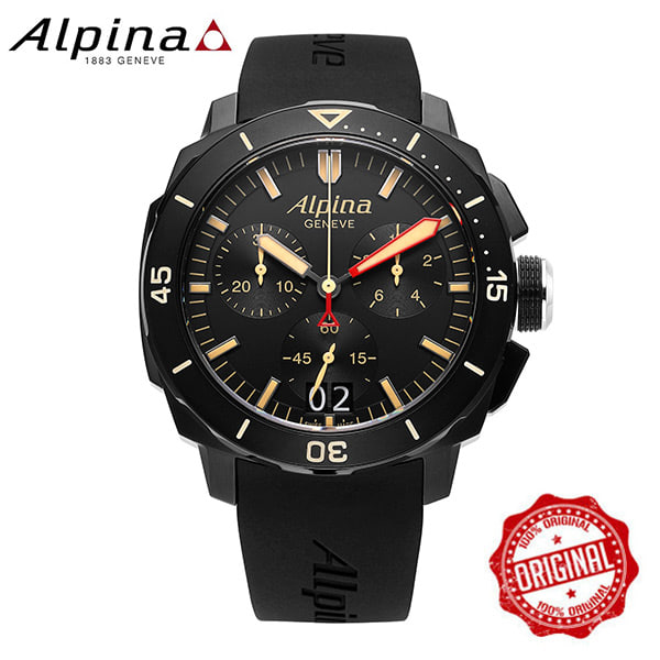 [알피나 ALPINA] AL-372LBBG4FBV6 Seastrong Diver 300 Big Date Chronograph 45mm