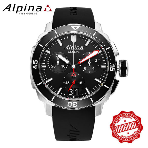 [알피나 ALPINA] AL-372LBG4V6 Seastrong Diver 300 Big Date Chronograph 45mm
