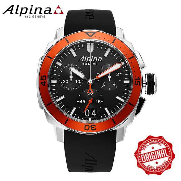 [알피나 ALPINA] AL-372LBO4V6 Seastrong Diver 300 Big Date Chronograph 45mm