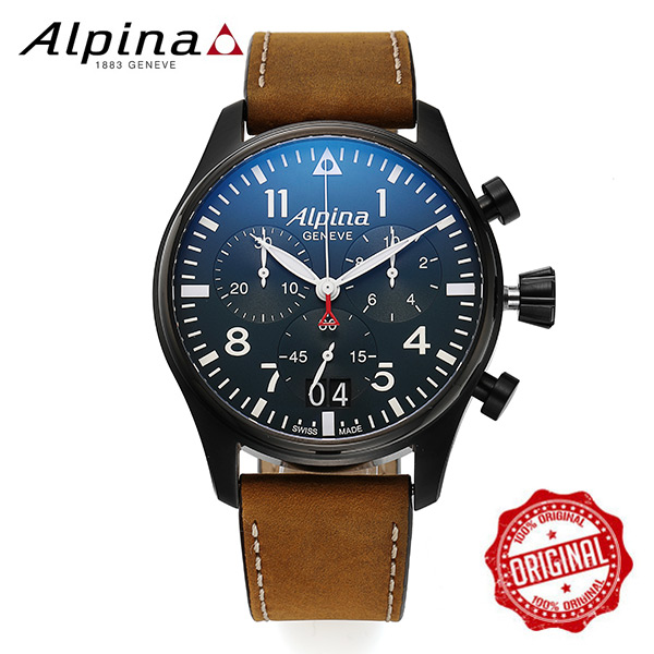 [알피나 ALPINA] AL-372N4FBS6 Startimer Pilot Big Date Black 44mm