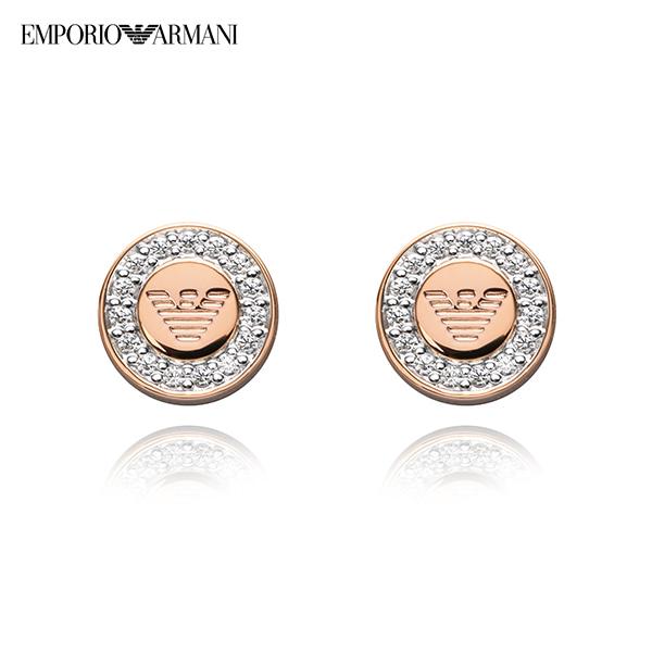[알마니 쥬얼리 ARMANI] EG3054221 / 알마니 로고 로즈골드 여성 귀걸이 타임메카