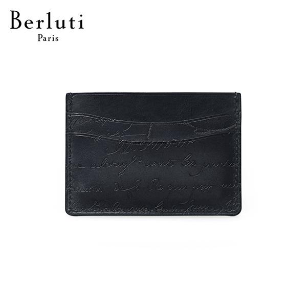 [벨루티 BERLUTI] N135255 / 뱀부 스크리토 레더 카드지갑 타임메카