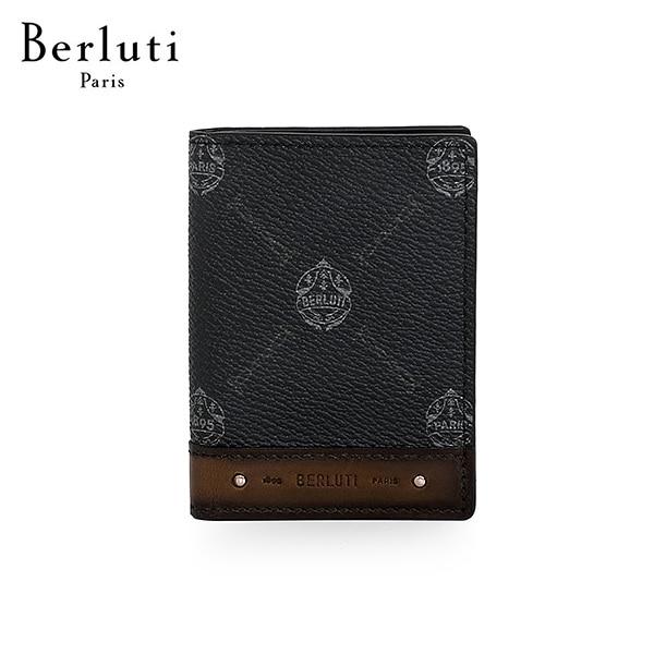 [벨루티 BERLUTI] N207370 / 데쿠베르트 캔버스 레더 카드 홀더 타임메카