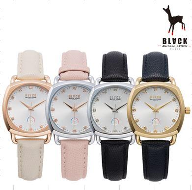 [블랙마틴싯봉 BLACKMARTINE] BKL1702L-GAXD104 / square glass watches 여성용
