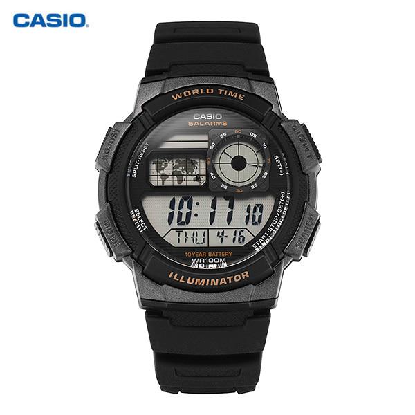 [카시오시계 CASIO] AE-1000W-1AVSDF (AE-1000W-1A) / 전자 디지털 군인 남성 우레탄시계 48X43mm 타임메카