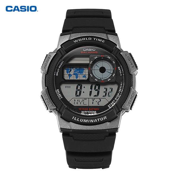 [카시오시계 CASIO] AE-1000W-1BVSDF (AE-1000W-1B) / 전자 디지털 군인 스포츠 방수 남성 우레탄시계 48X43mm 타임메카