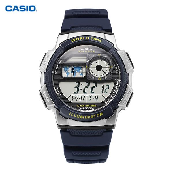 [카시오시계 CASIO] AE-1000W-2AVDF (AE-1000W-2A) / 빈티지 디지털 스포츠 군인시계 남성 우레탄시계 48x43mm 타임메카