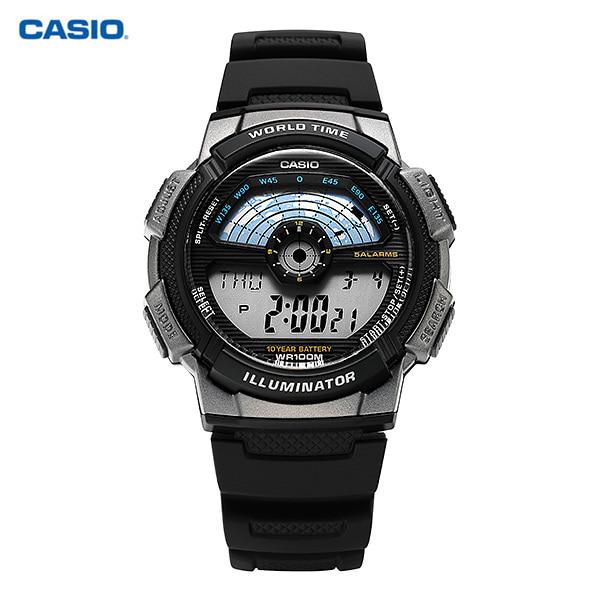 [카시오시계 CASIO] AE-1100W-1AVSDF (AE-1100W-1A) / 디지털 스포츠 군인시계 남성 우레탄시계 48x43mm 타임메카