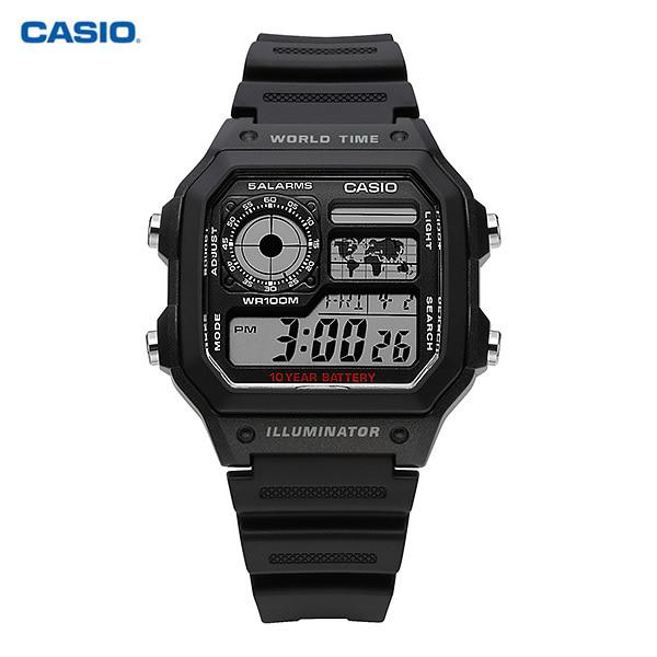 [카시오시계 CASIO] AE-1200WH-1AVDF (AE-1200WH-1A) / 디지털 스포츠 군인시계 남성 우레탄시계 45x42mm 타임메카