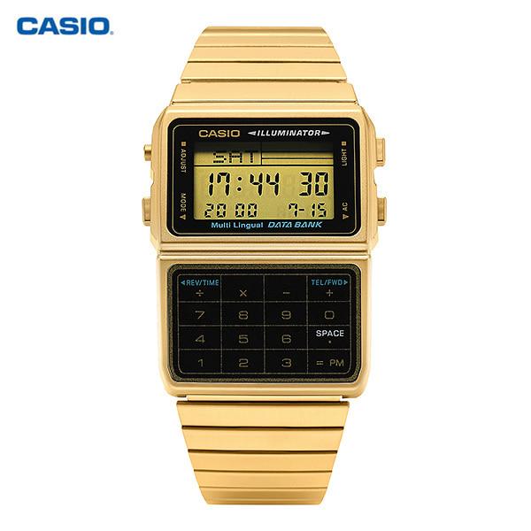 [카시오시계 CASIO] DBC-611G-1DF (DBC-611G-1) / 데이터뱅크 계산기시계 금장 남성 메탈시계 46x32mm 타임메카