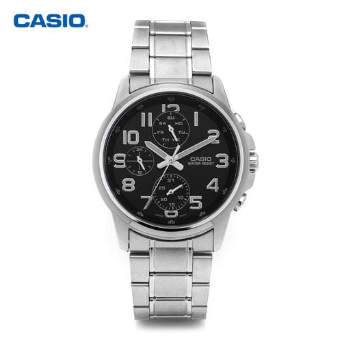 [카시오시계 CASIO] MTP-E307D-1ADF (MTP-E307D-1A) 아날로그시계 40mm