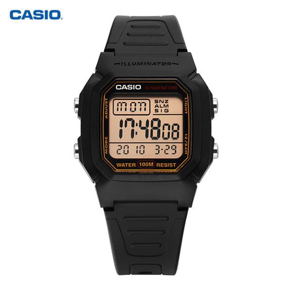 [카시오시계 CASIO] W-800HG-9AVDF (W-800HG-9A) / 전자 군인 공용 우레탄시계 36.5mm 타임메카