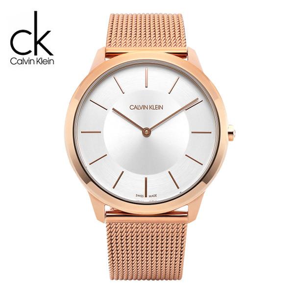 [캘빈클라인 CALVINKLEIN] K3M21626 / Minimal 로즈골드 남성용 매쉬밴드 시계 40mm