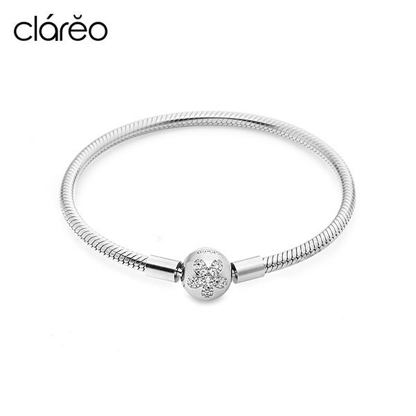 [클라레오 CLAREO] CLB1903 / Clasp Bracelet 실버 타임메카