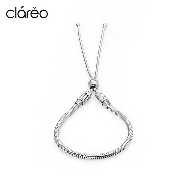 [클라레오 CLAREO] CLB1906 / Sliding Bracelet 실버 타임메카