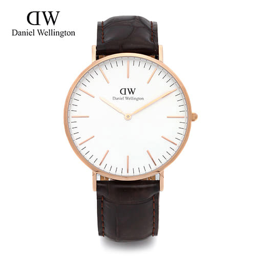 [다니엘 웰링턴시계 DANIEL WELLINGTON] 0111DW(DW00100011) / 40mm 클래식 요크 CLASSIC YORK ROSE GOLD