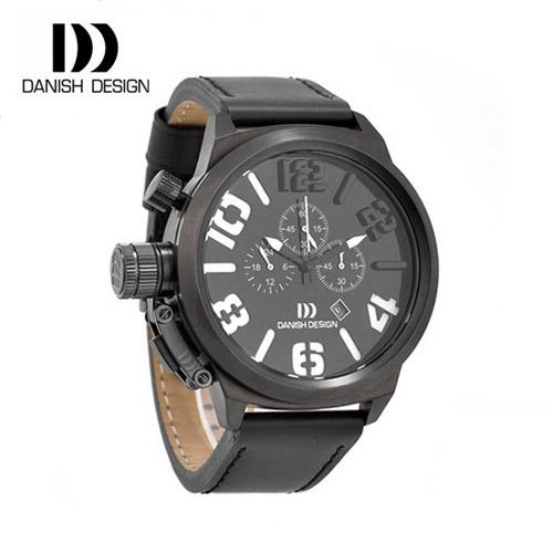 ☆-) [대니시디자인시계 DANISH DESIGN] IQ14Q917 크로노그래프 남성용 가죽시계 50mm [한국본사정품]