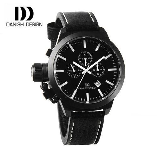 ☆-) [대니시디자인시계 DANISH DESIGN] IQ16Q888 크로노그래프 남성용 가죽시계 54mm(용두포함) [한국본사정품]