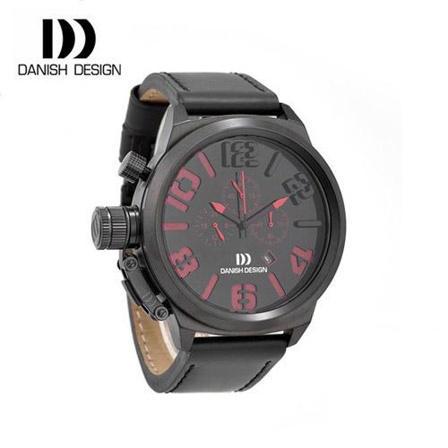 ☆-) [대니시디자인시계 DANISH DESIGN] IQ16Q917 크로노그래프 남성용 가죽시계 50mm [한국본사정품]