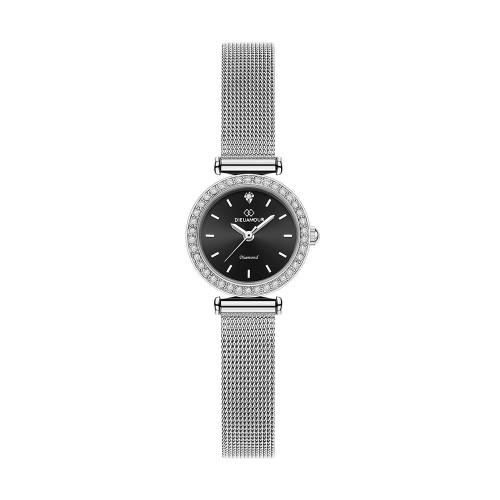 [디유아모르 DIEUAMOUR] DAW3201M-SB 심플 다이아몬드 로즈골드 여성용 메탈시계 타임메카