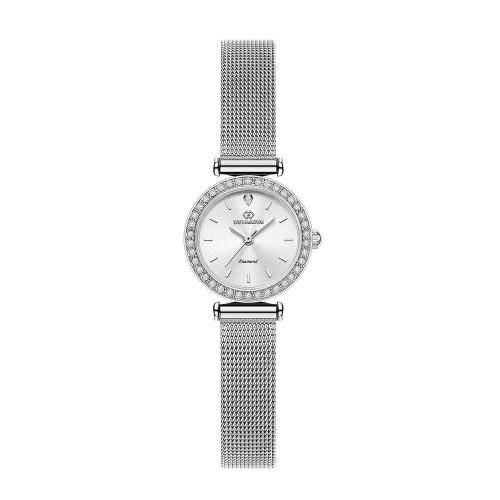 [디유아모르 DIEUAMOUR] DAW3201M-SW 심플 다이아몬드 실버 여성용 메탈시계 타임메카
