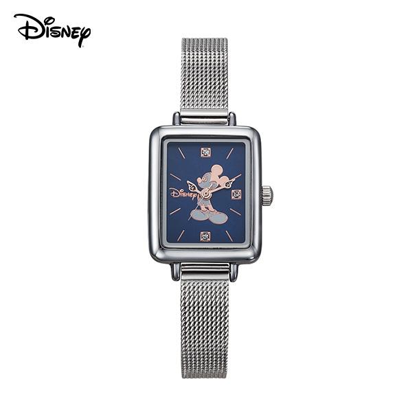 [디즈니시계 DISNEY] D11019MBL 디즈니 미키마우스 미키 샤이닝 여성 메탈시계 19x23mm 타임메카