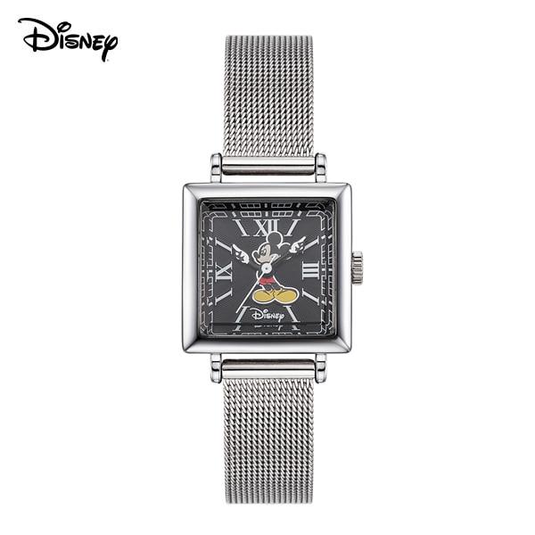[디즈니시계 DISNEY] D11922MBK 디즈니 뉴트로 미키마우스 여성용  메쉬밴드 시계 22mm 본사정품 타임메카