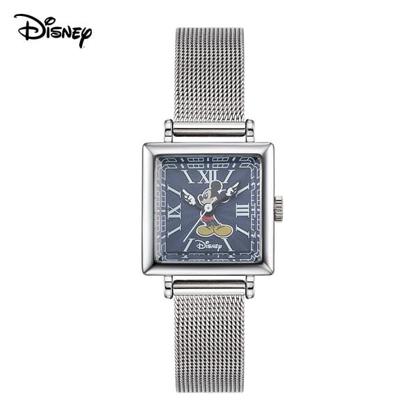 [디즈니시계 DISNEY] D11922MBL 디즈니 뉴트로 미키마우스 여성용 메쉬밴드 시계 22mm 본사정품 타임메카