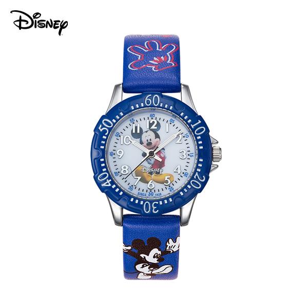 [디즈니시계 DISNEY] D20130MK 디즈니 미키마우스 블루 아동용 PU가죽 밴드 30mm 본사정품 타임메카