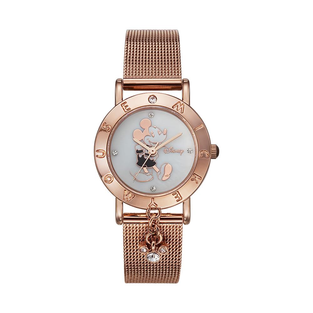 [디즈니시계 DISNEY] OW-035DBRM 디즈니 남녀공용 메쉬밴드 시계 [사은품 가죽밴드추가증정] 타임메카