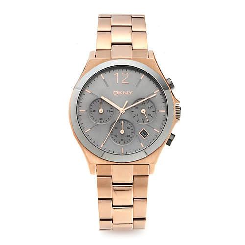 ☆-) [도나카란뉴욕시계 DKNY] NY2453 / PARSONS 크로노그래프 여성용 로즈골드 메탈시계 37mm