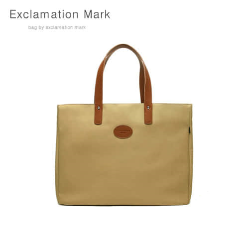 [익스클라메이션마크 ExclamationMark] E007-beige / TOTE BAG