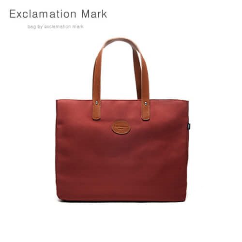 [익스클라메이션마크 ExclamationMark] E007-brick / TOTE BAG