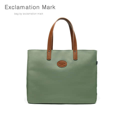 [익스클라메이션마크 ExclamationMark] E007-green / TOTE BAG