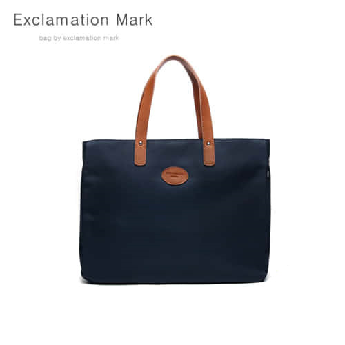 [익스클라메이션마크 ExclamationMark] E007-navy / TOTE BAG