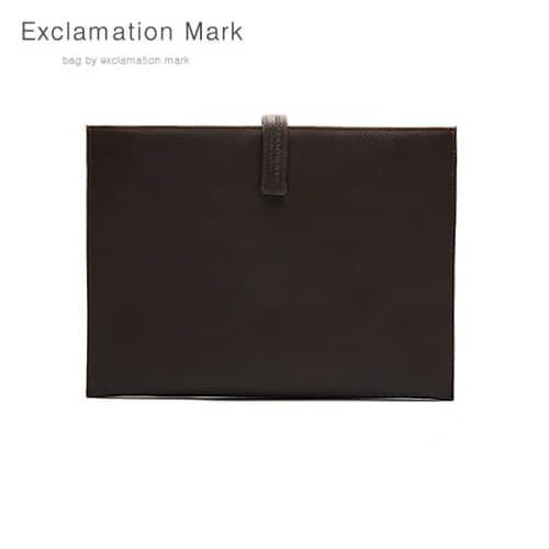 [익스클라메이션마크 ExclamationMark] E012-darkbrown / CLUTCH BAG