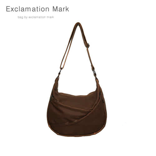 [익스클라메이션마크 ExclamationMark] E014-darkbrown / CROSS BAG