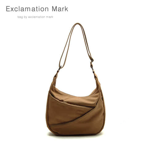 [익스클라메이션마크 ExclamationMark] E014-lightbrown / CROSS BAG