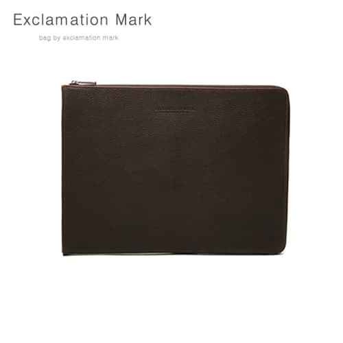 [익스클라메이션마크 ExclamationMark] E016-darkbrown / CLUTCH BAG