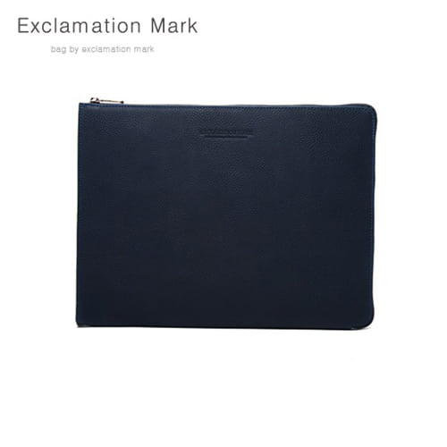 [익스클라메이션마크 ExclamationMark] E016-navy / CLUTCH BAG