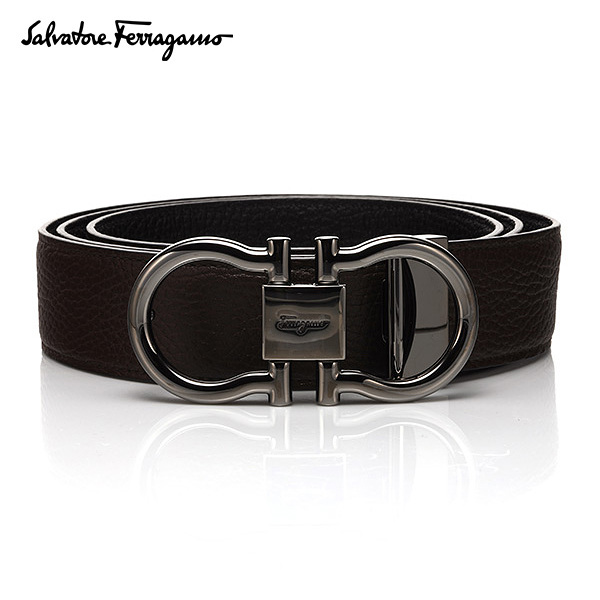 [페라가모 FERRAGAMO] 67 6031 0644445 Double Ganchini 양면벨트