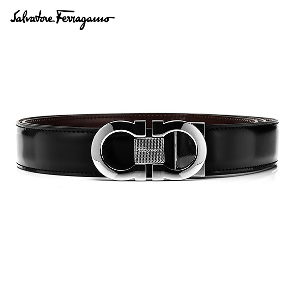 [페라가모 FERRAGAMO] 67 8007 0380287 Double Ganchini 양면벨트