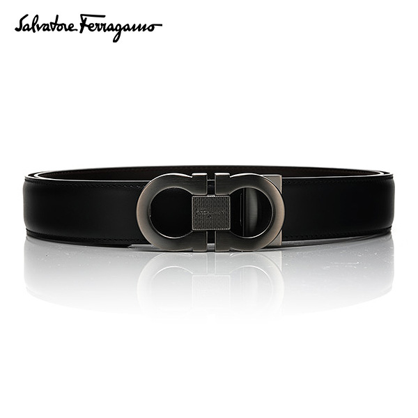 [페라가모 FERRAGAMO] 67 8007 0394373 Double Ganchini 양면벨트