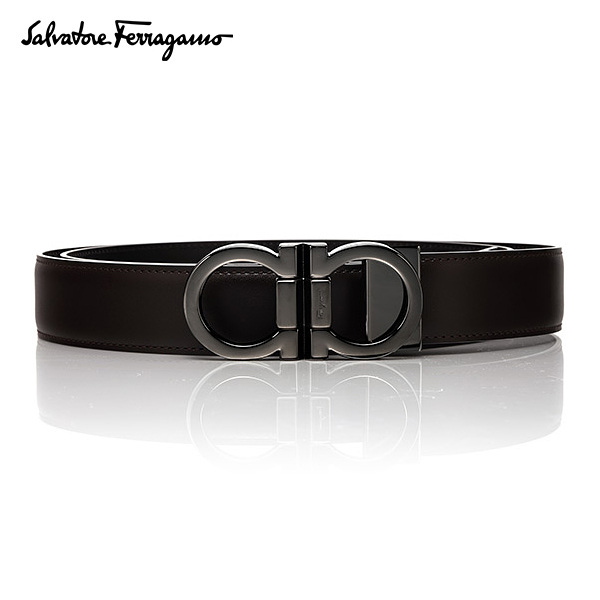 [페라가모 FERRAGAMO] 67 8648 0444078 Double Ganchini 양면벨트