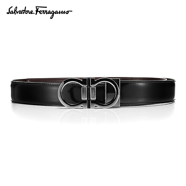 [페라가모 FERRAGAMO] 67 8648 0445288 Double Ganchini 양면벨트