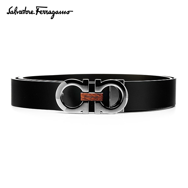 [페라가모 FERRAGAMO] 67 8783 0476363 Double Ganchini 양면벨트