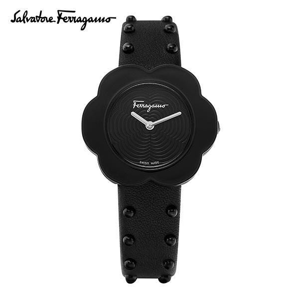 [페라가모시계 FERRAGAMO] SFCR00218 (SFCR002-18) / 피오레 여성용 블랙 가죽시계 30mm 타임메카