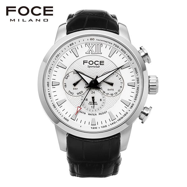 [포체 FOCE] F914GSL101 ATOMBA /아톰바 이수근 착용 시계 남성용 가죽시계 멀티펑션 46mm
